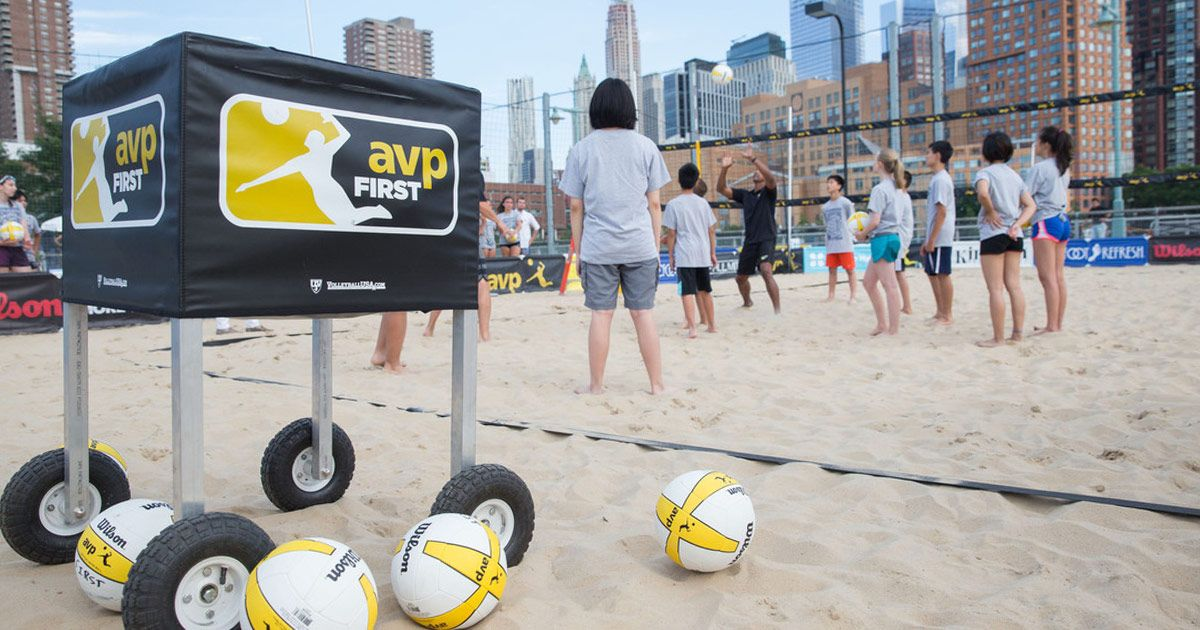 Avpfirst Is Proud To Be The Signature Youth Volleyball Initiative Of The Avp Pro Beach Volleyball Tour Volleyball Inspiration Youth Volleyball Beach Volleyball