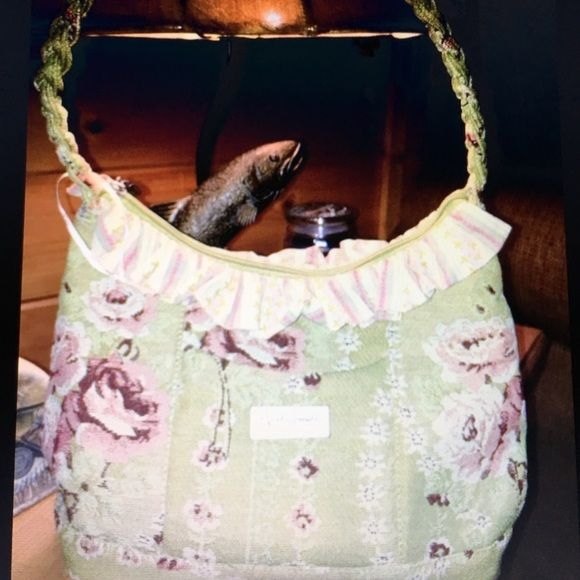 Isabella's Journey April Cornel bag This is a new Isabella's journey April Cornel green tapestry , roses handbag . New never carried .  Very spring like .. Smoke free home .. Isabellas journey Bags Shoulder Bags