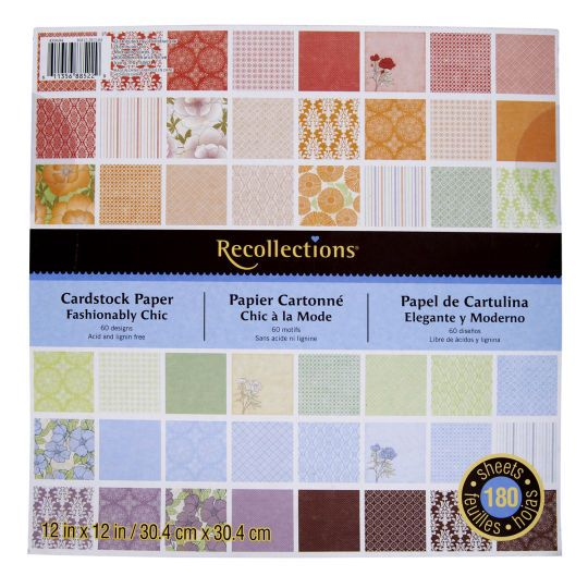 Recollections Fashionably Chic Cardstock Paperrecollections