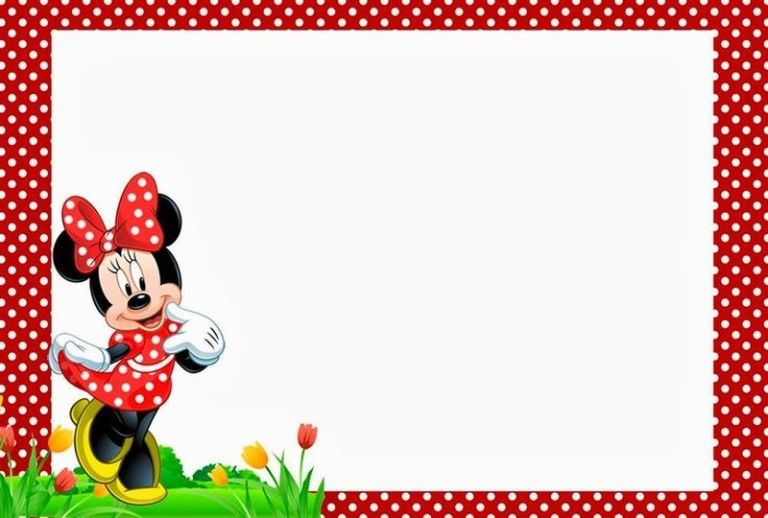 Free Minnie Mouse Birthday Party Invitation Template