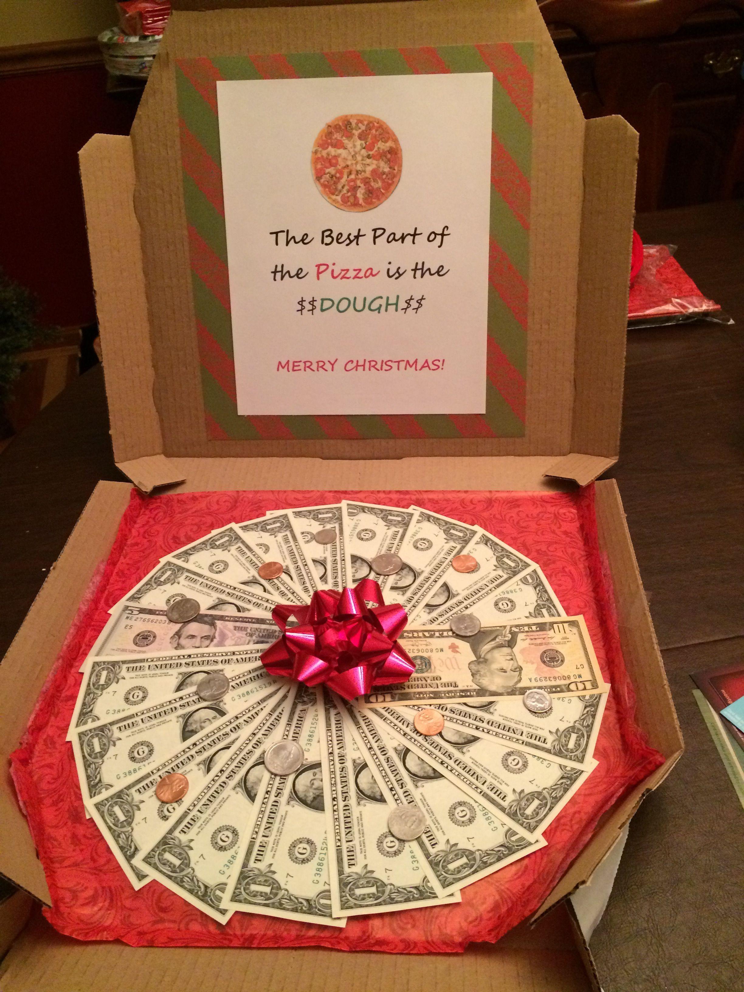 Birthday pizza 18th birthday gifts creative money gifts