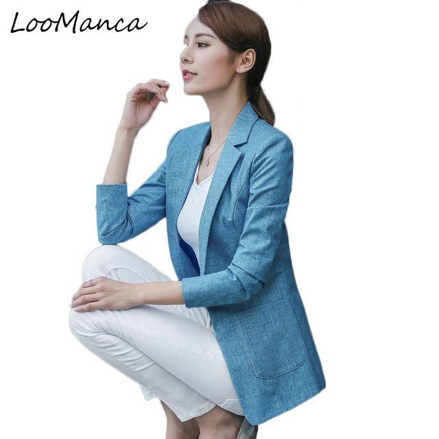 2019 New Fashion Women Blazers And Jackets Korean Style Female Blue Blaser Coat Femme Feminino Plus Size Work Wear Suit Back To Search Resultswomen's Clothing Blazers