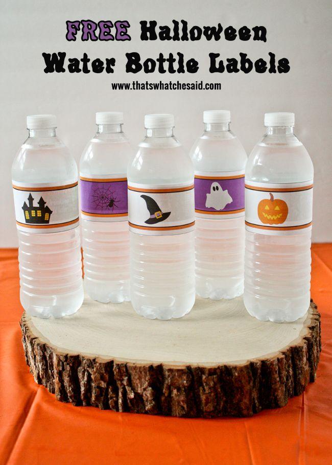 Halloween Water Bottle Labels | Water bottle labels, Halloween ideas ...
