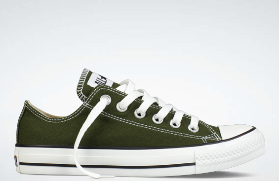 30492ef80a9d Kombu Green Chucks Converse Low Tops