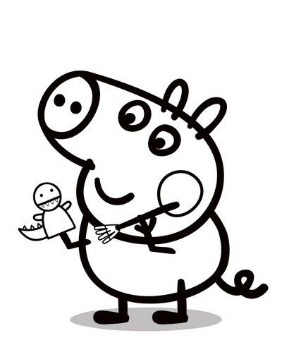 Peppa Pig Da Colorare George Peppa Pig Pinterest Coloriage