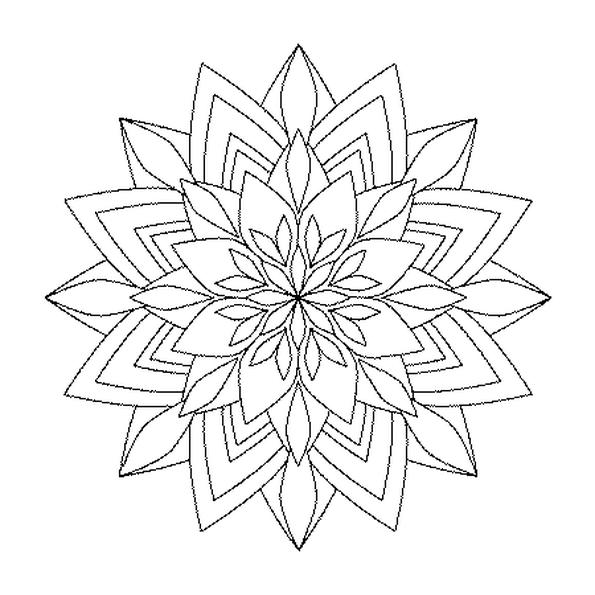 Coloriage Mandala Bouquet en Ligne Gratuit à imprimer   flowers ...