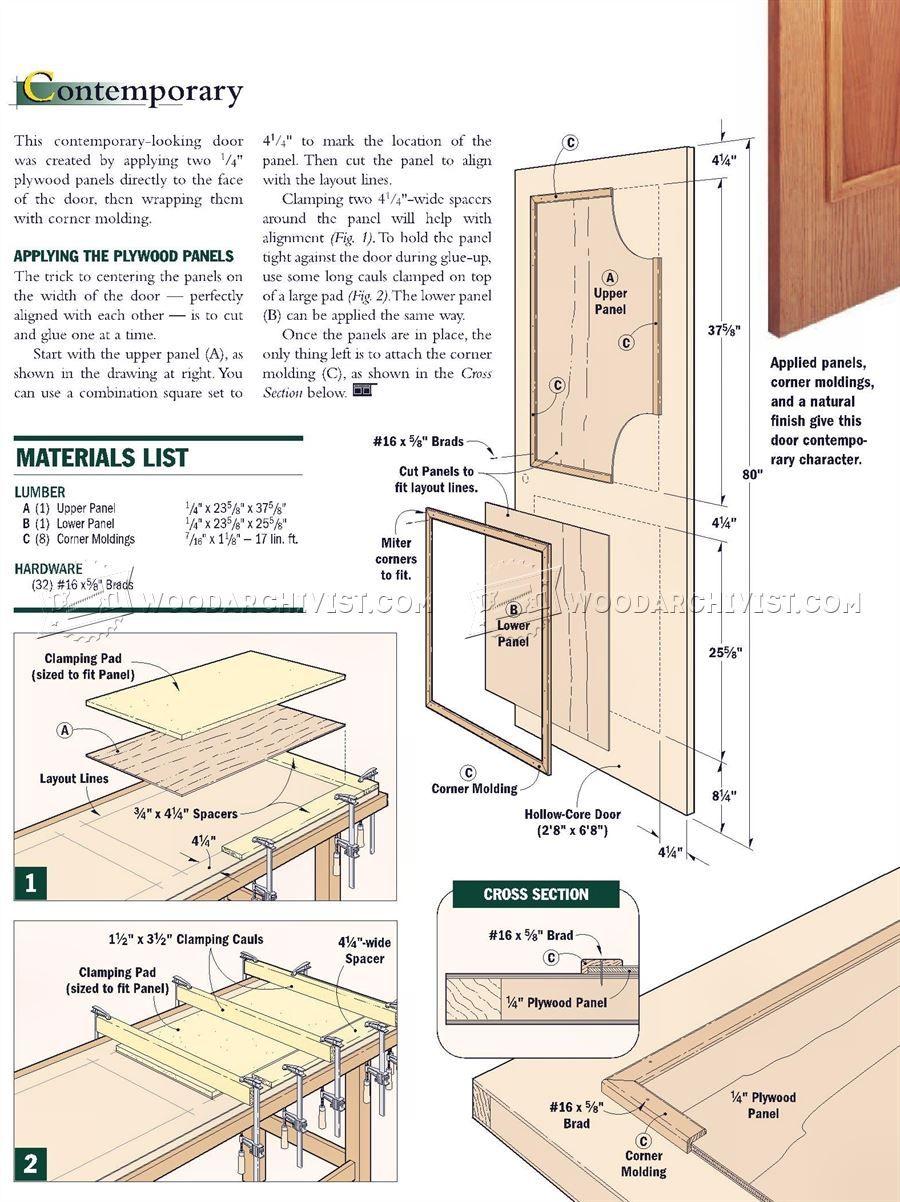 1545 Making Interior Doors Door Construction House Home