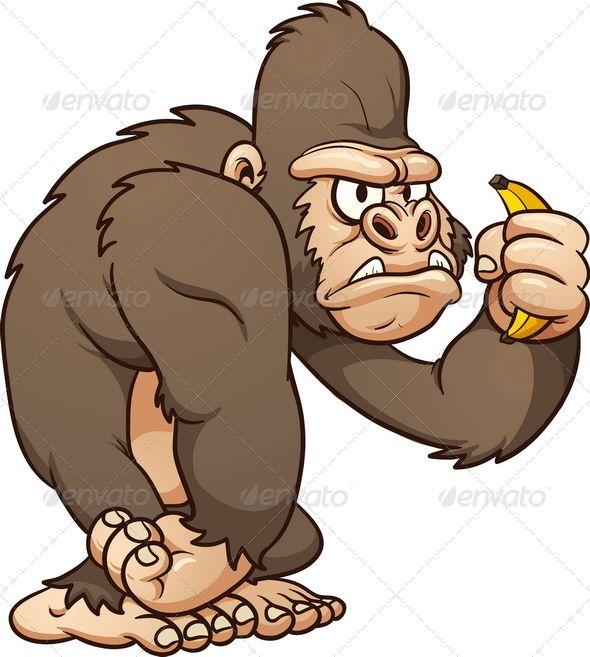 Graphicriver Cartoon Gorilla 4913292 Met Afbeeldingen Apen