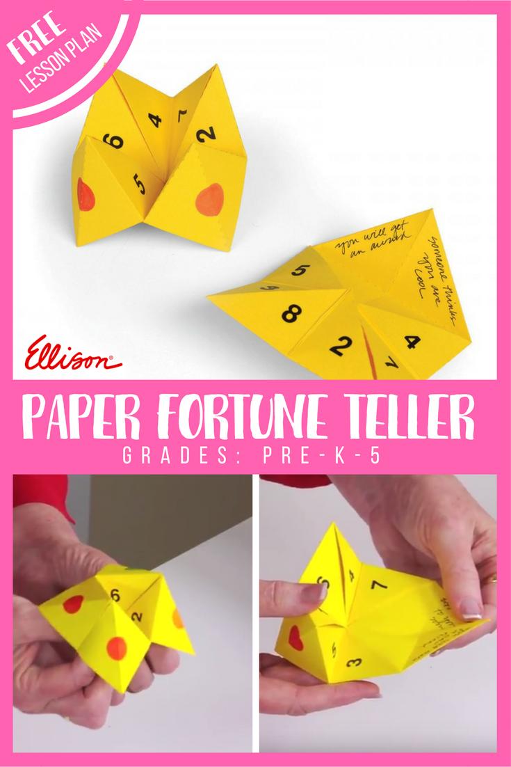 Paper Fortune Teller Kindergarten lessons, Kindergarten