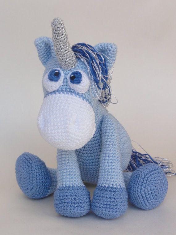 Amigurumi Crochet Pattern - Luna the Unicorn | Animales tejidos ...