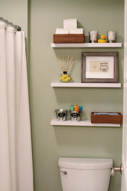 Bathroom shelves above toilet ideas - Floating shelf ideas for bathroom ...