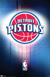 Detroit Pistons Official NBA Logo Poster - Costacos Sports