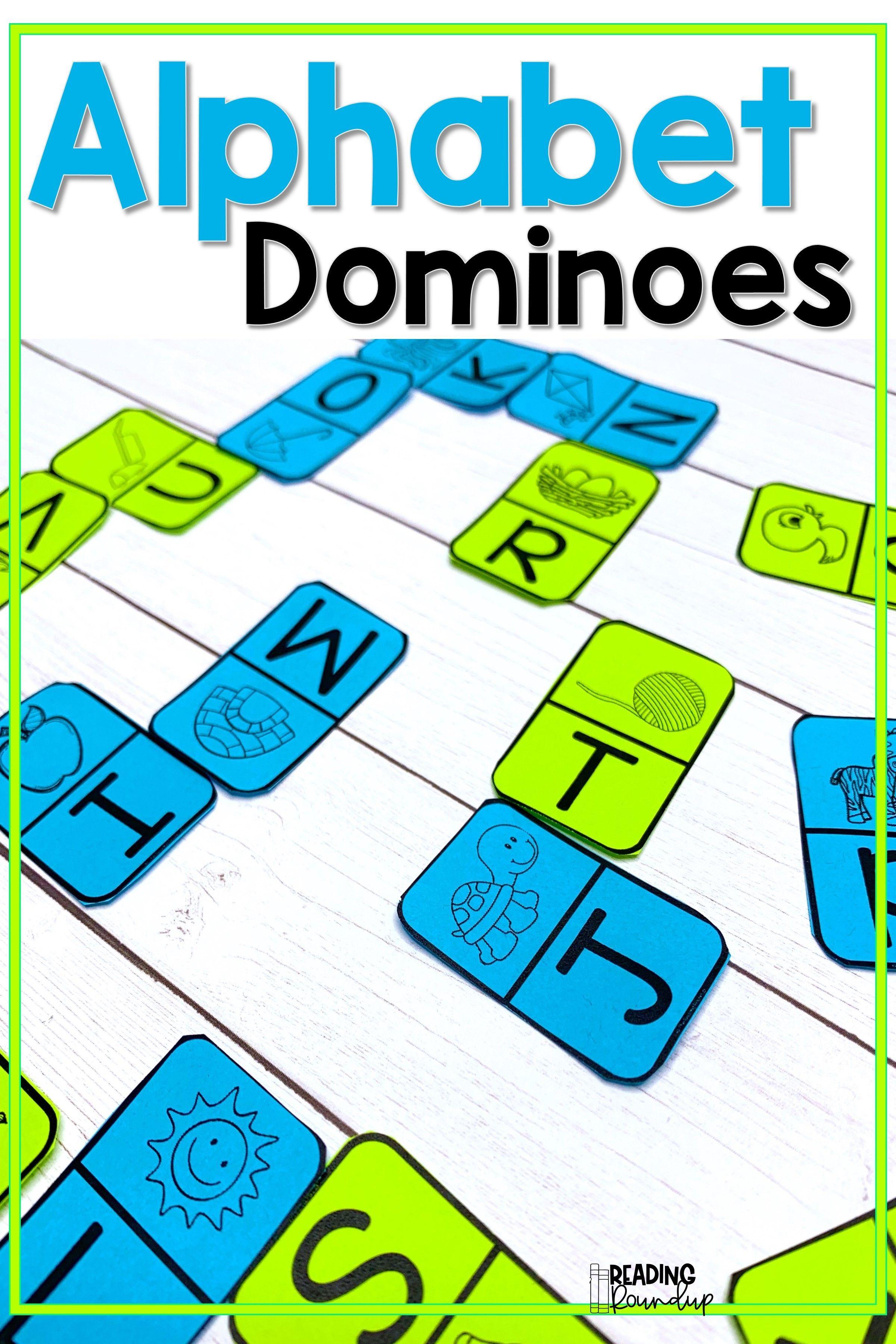 Beginning Sounds Dominoes   Alphabet Literacy Center