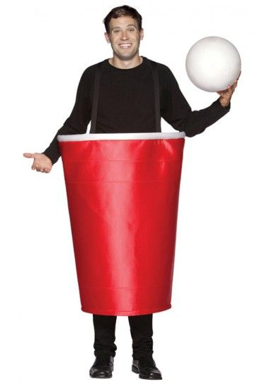Pong Ball Halloween Costume Funny Beer Pong Adult Unisex College Party Outfit