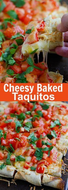 Cheesy Baked Taquitos – the easiest baked taquitos ever, loaded with cheese. Takes 15 mins active time to make this amazing recipe | rasamalaysia.com @JoseOleCentral #JustSayOle