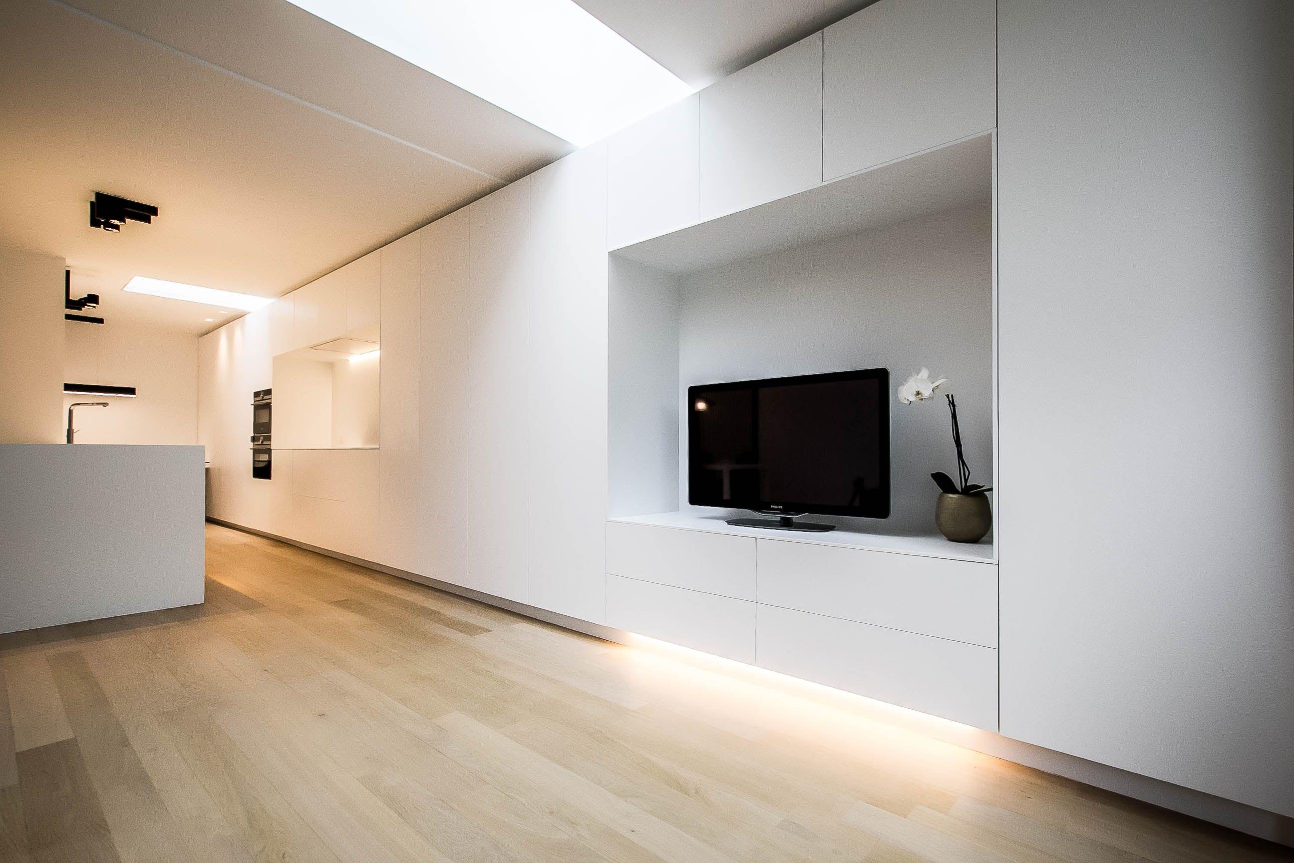 Interieur modern interieur open keuken met keukeneiland open