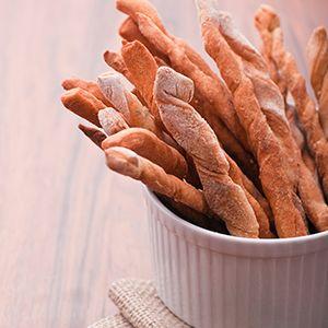 Warm, soft bread sticks with a whole-wheat twist