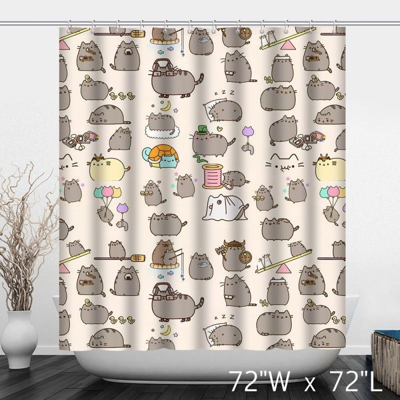 Funny Cute Lovely Cats Bathroom Shower Curtain Cat Shower Curtain Funny Shower Curtains Bathroom Shower Curtains
