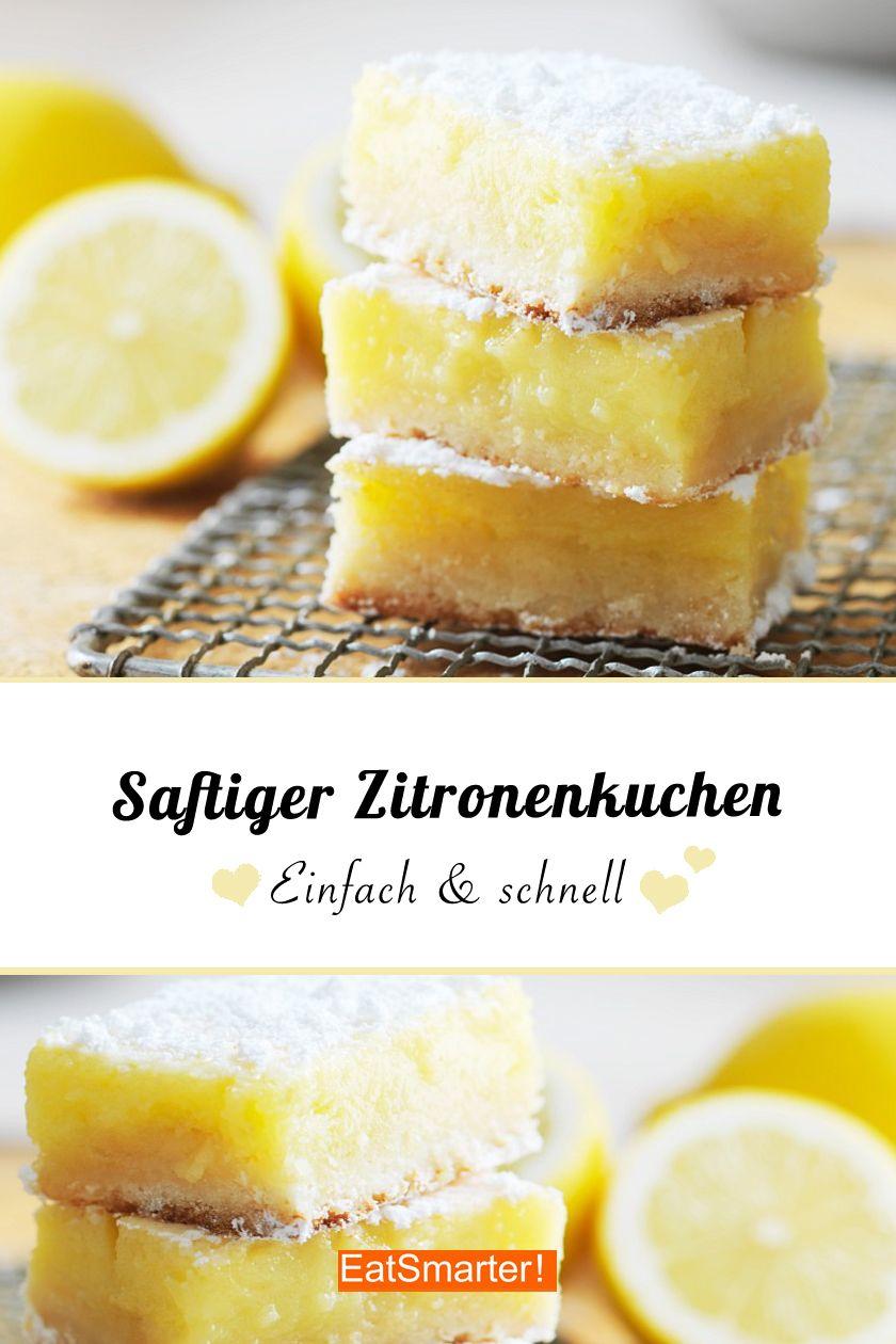 Fast schon ein Zauberkuchen so einfach ist dieser saftige Zitronenkuchen! Den müsst ihr probieren! | eatsmarter.de #zitronenkuchen #kuchen #zauberkuchen #backen #rührteiggrundrezept