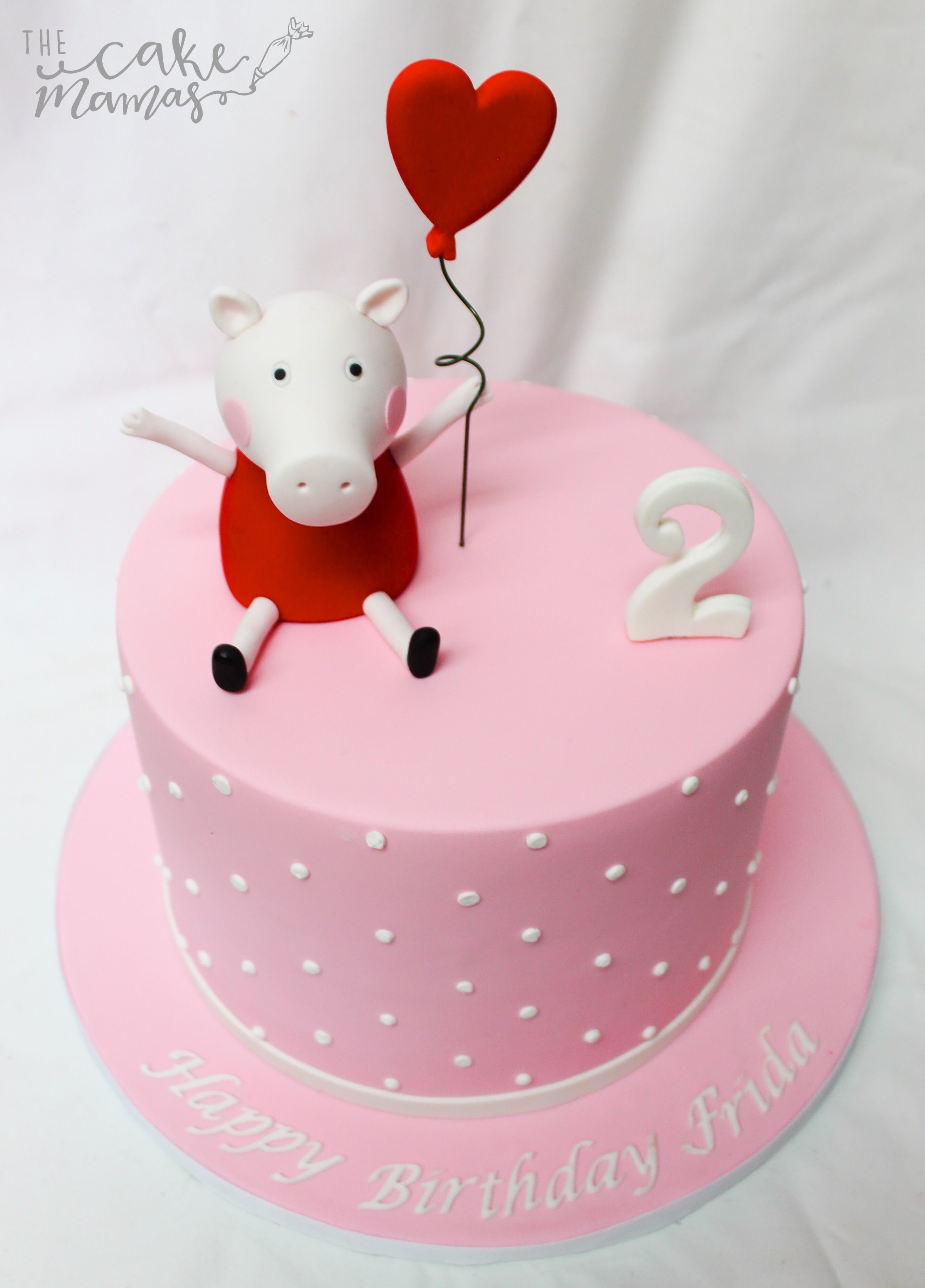 Simple Peppa Pig Second Birthday Cake Call Or Email To Book Your