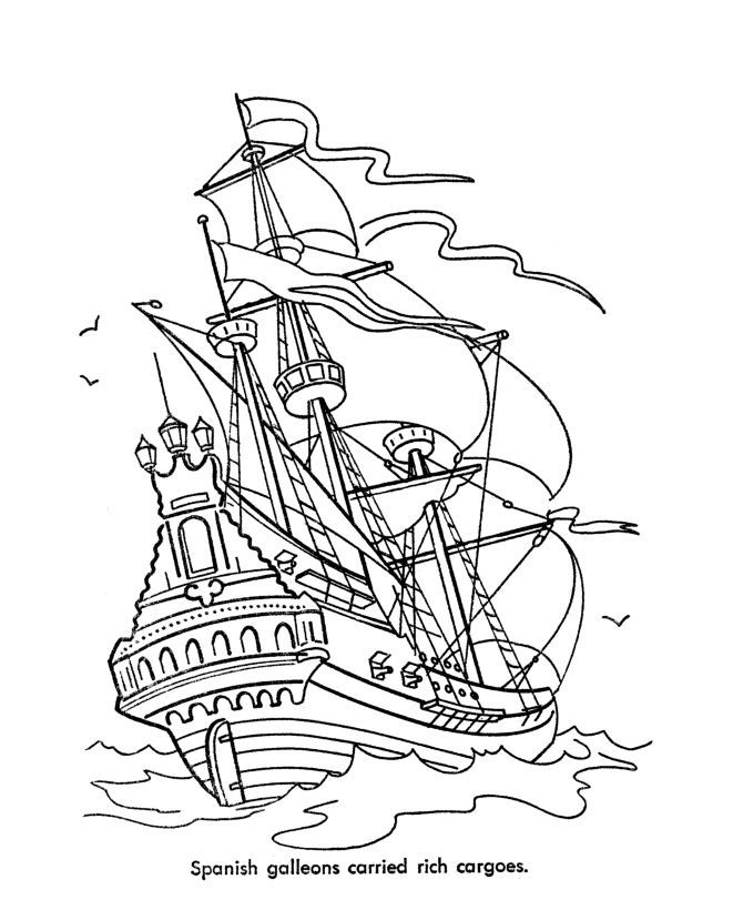 Free Disney Pirate Printables These Caribbean Pirates Of The Sea Coloring Pages Are Fun To Color For Pirate Coloring Pages Ship Drawing Coloring Pages