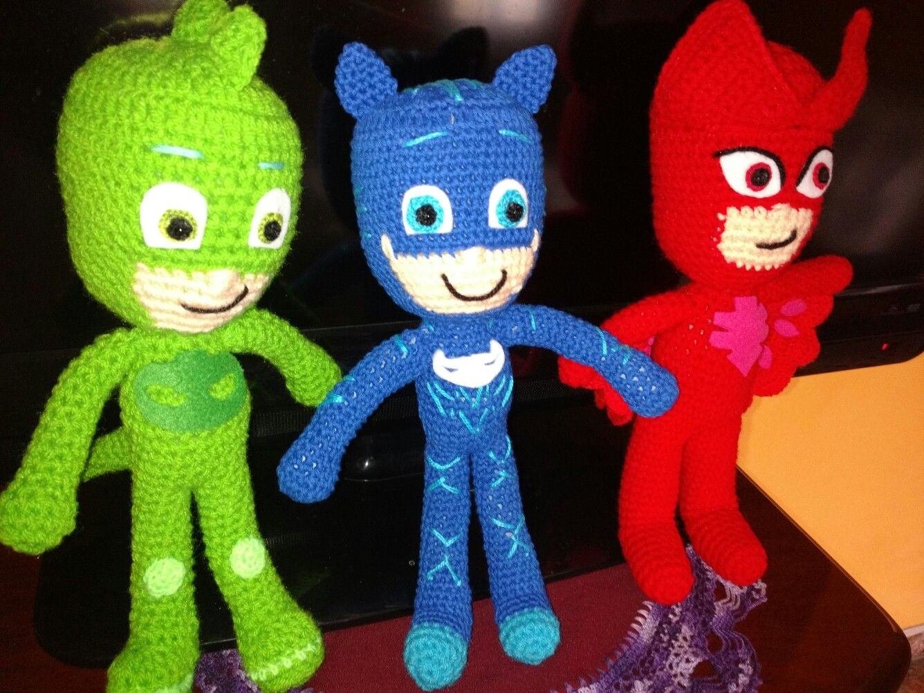Amigurumi Oso Pijama : Héroes en piyama crochet héroes en pijamas crochet