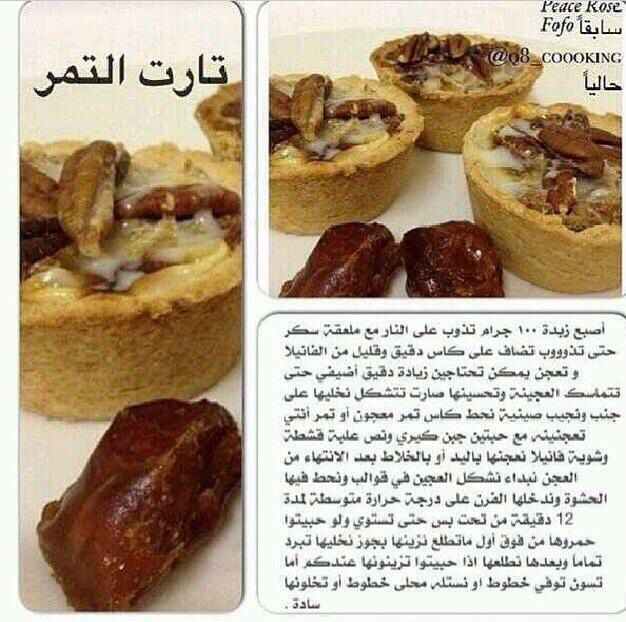 تارت التمر Sweet Recipes Arabic Food Lebanese Desserts