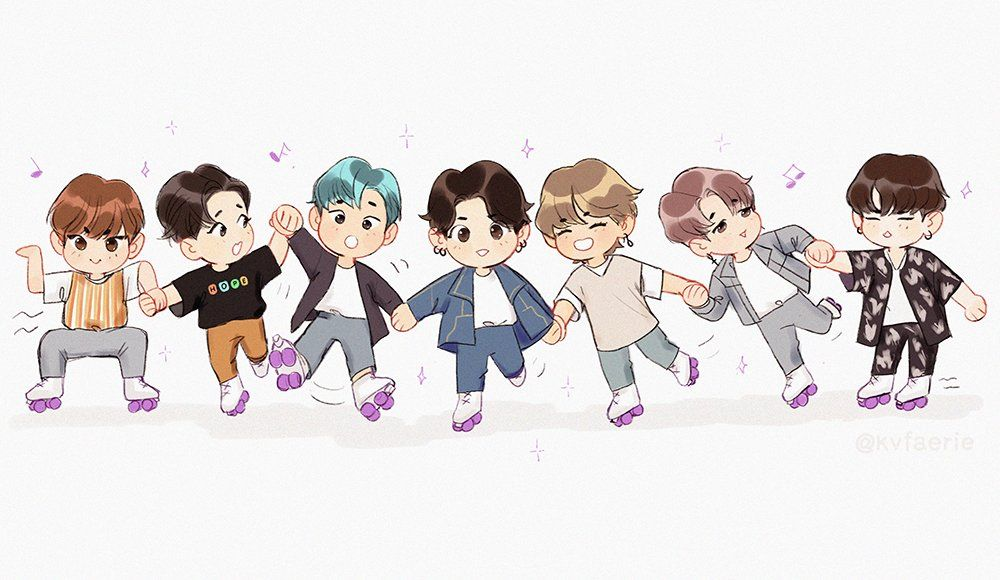 Bo On Twitter In 2020 Bts Fanart Bts Chibi Bts Drawings
