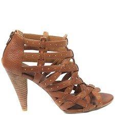 Leather Kentaro High Heels Rust