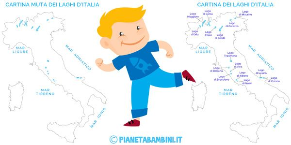 Cartina Dei Laghi Ditalia In Versione Muta O Completa Schede