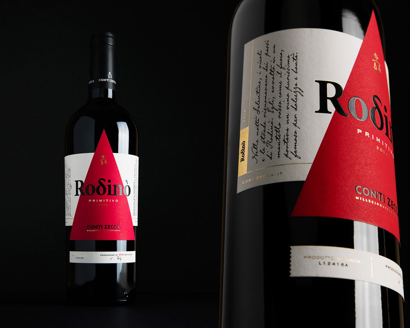 Rodino Conti Zecca Wine Label On Behance Wine Label Wine Design Spirits Packaging Design
