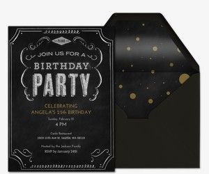 Birthday Milestones Free Online Invitations