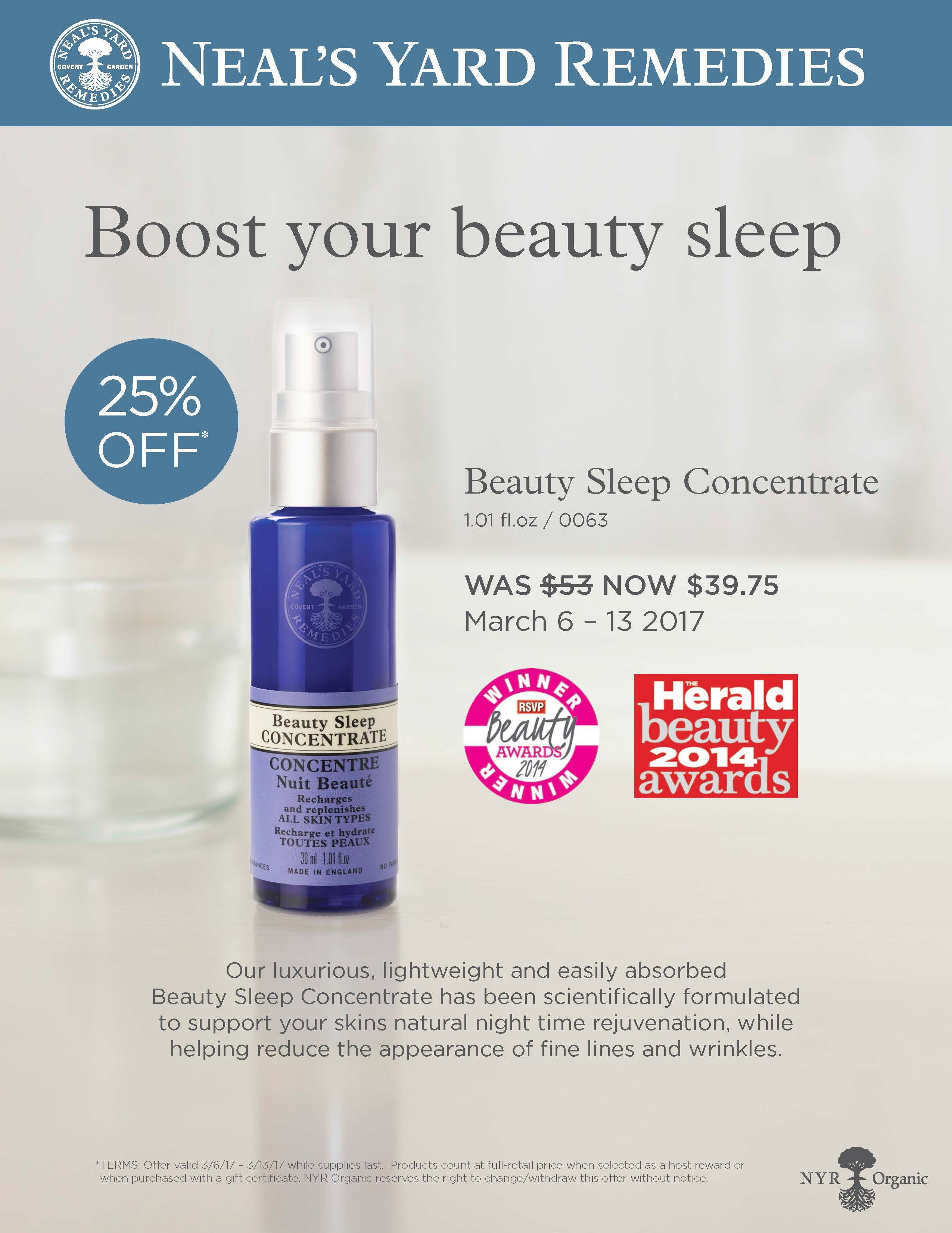 Beauty Sleep Concentrate (With images) Natural beauty