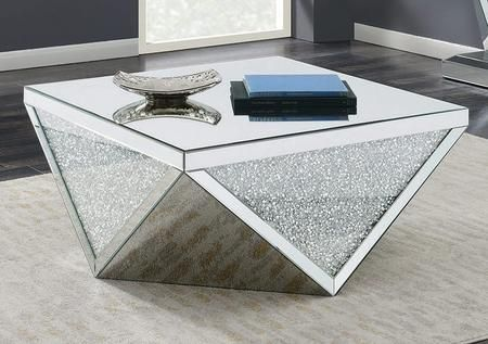 Best 722508 39 Coffee Table With Tempered Glass Top Triangle 400 x 300