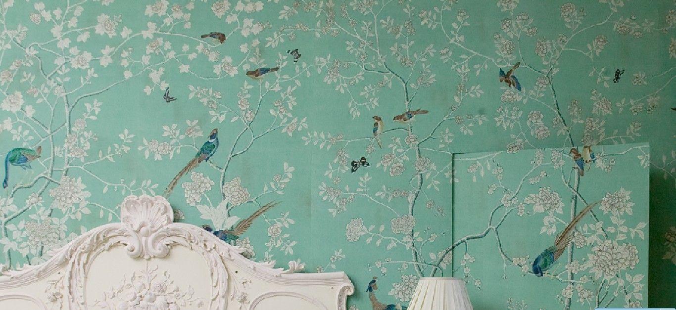 Hand Painted Wallpaper Chinoiserie Wallpaper Hand Painted Silk Wallpaper Hand Painted W With Images Chinoiserie Wallpaper Painting Wallpaper Fromental Wallpaper,Custom Upholstered Headboards Toronto