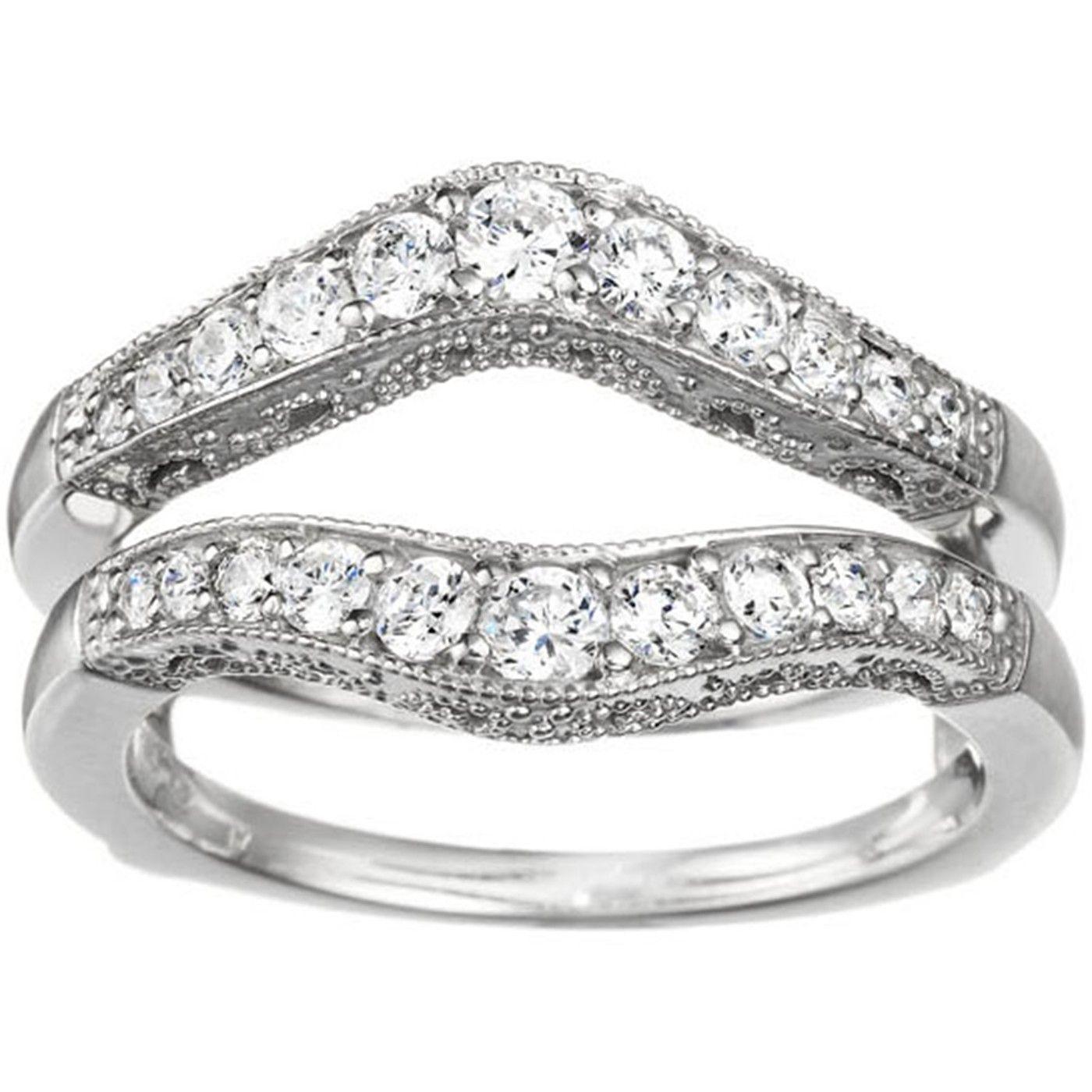 Filigree ring guard 76 carat vintage rings