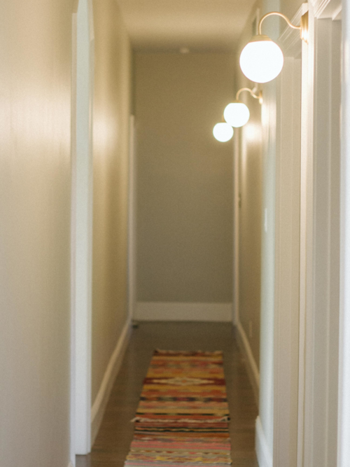 Before after • hallway lighting