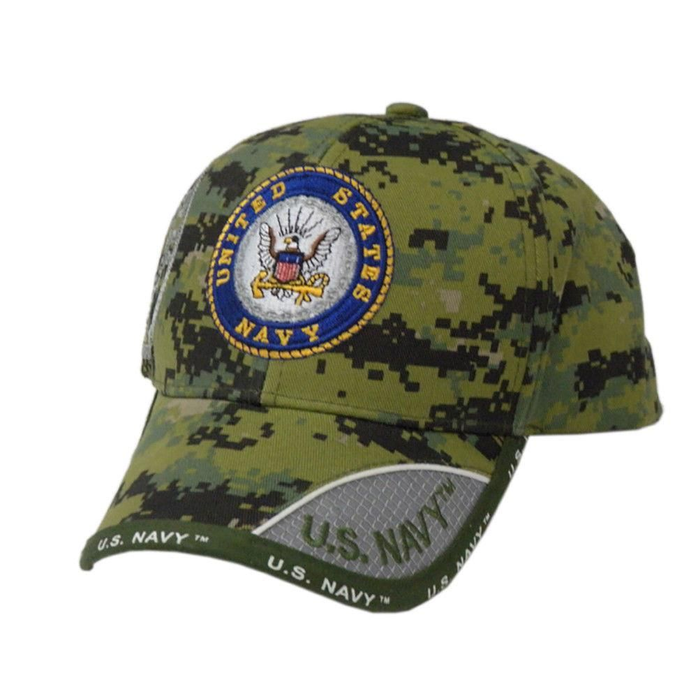 US Honor Official Embroidered Shark Fin Navy Logo Baseball Caps Hats