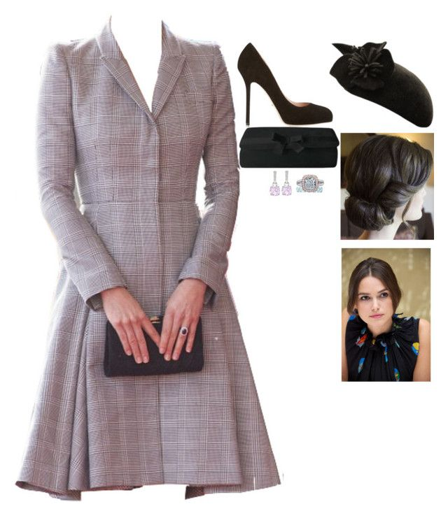 """""""Her Royal Highness The Grand Duchess Eugenie of Retz, Countess of Northurmberland attends the christening of her"""" by fashion-royalty ❤ liked on Polyvore featuring Sergio Rossi, Kiki mcdonough and Tiffany & Co."""