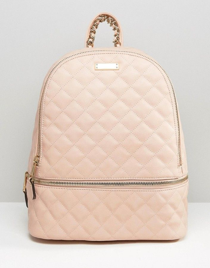 ALDO Quilted Backpack in Blush  1fcb500475fc4