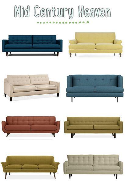 Mid century modern sofas interior sofas deko und wohnen for Sofa 50er stil