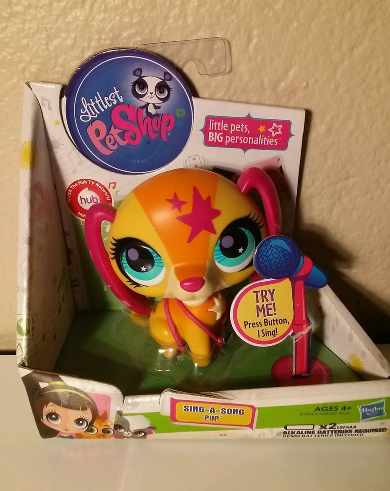 Littlest Pet Shop Dog SINGING PETS SING A SONG -Large Pup Brand New in box LPS #Hasbro