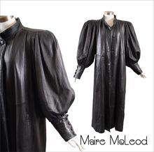 Superbly Chic 1980's Leather Coat *Anna Z Italy *Finest Leather *M-MLg