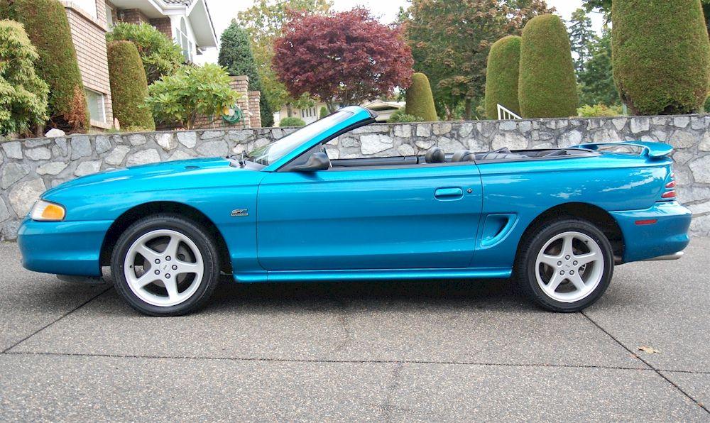 Teal Blue 1994 Mustang Gt Convertible Mustang Gt Sn95 Mustang Mustang Restoration