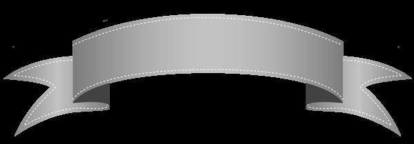 Silver Transparent Banner Png Clipart Desain Banner Ikon Desain