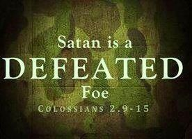 Image result for the devil is a defeated foe scripture