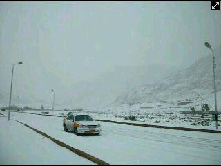 Rare snowfall in Sinai Egypt. What a world!