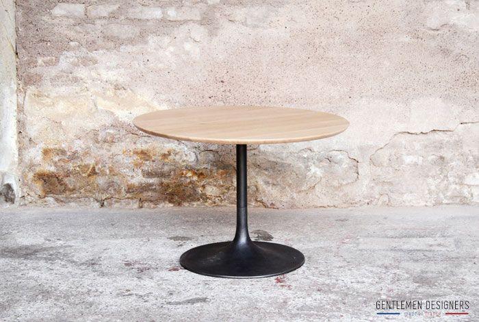 Produits Gentlemen Designers Mobilier Vintage Made In France Table Basse Ronde Bois Table Basse Table Basse Ronde