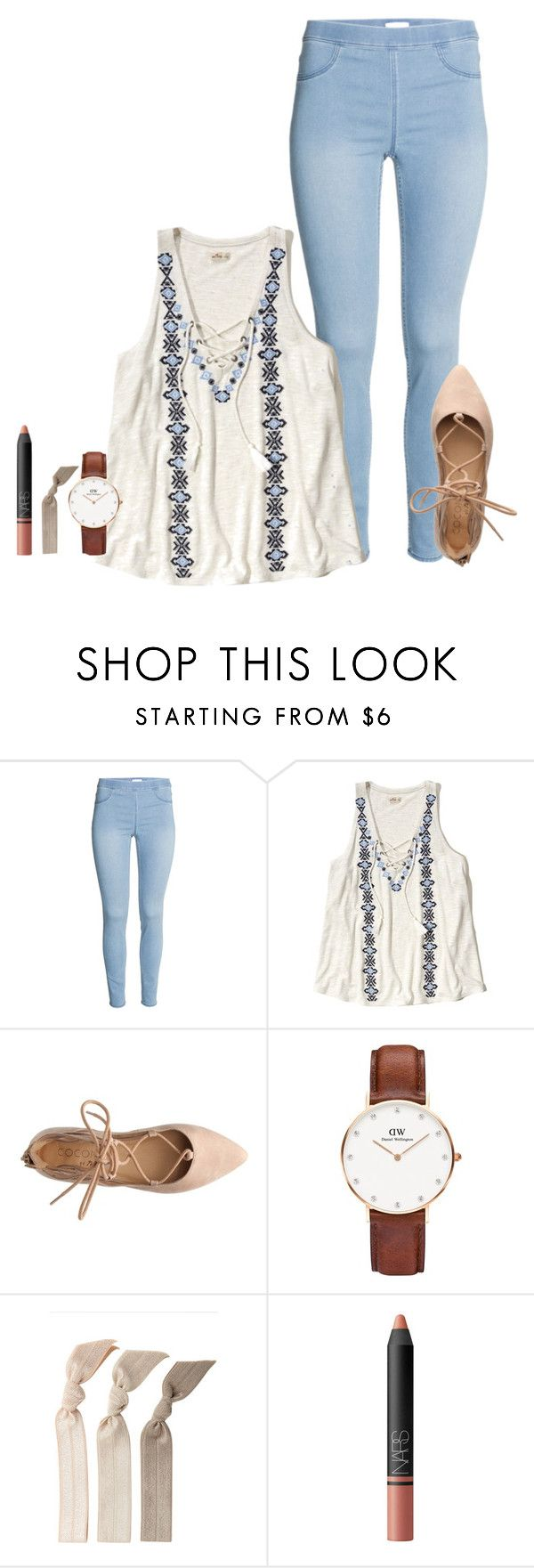 """them shoes "" by thatprepsterlibby ❤ liked on Polyvore featuring Hollister Co., Daniel Wellington, Emi-Jay, NARS Cosmetics, women's clothing, women, female, woman, misses and juniors"