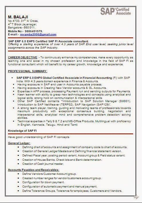 Sap Basis Resume Biodata Format For Job In Word Sample Template Example Ofexcellent .
